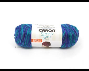 Caron Simply Soft Paints Yarn, Oceana, 5 oz