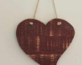 Rustic Heart Made From Reclaimed Pallet Wood