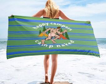 Camp Naked Beach Towel