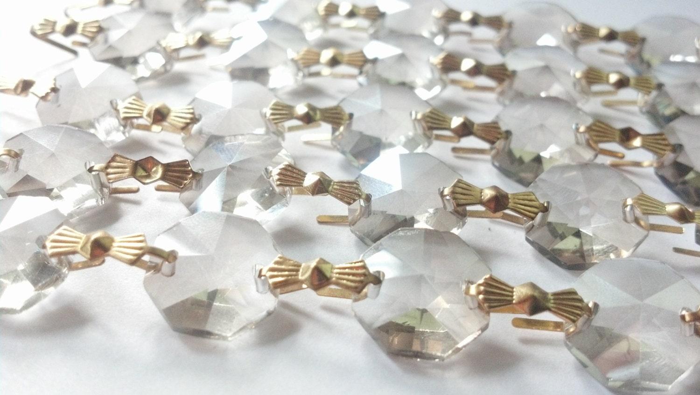 1 yard champagne chandelier crystal garland golden teak prism shabby 999 arubaitofo Choice Image