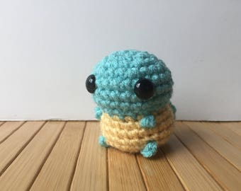 Ditzy Pokemon Starters - Squirtle Pokemon Amigurumi - Cute Squirtle Doll