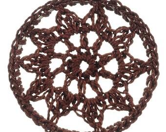 x 1 connector pendant dream catcher Brown crochet.
