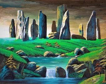 River stone circle