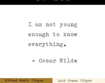 Real Typewriter – Oscar Wilde Quotes – Part 7