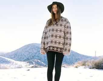 40off SALE Vintage Viking Wool Snowflake Sweater | Medium Large | Swedish Wool Pullover | FULLY LINED | DeadStock!