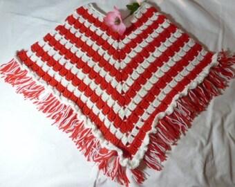Girls Crochet Poncho     RM-191