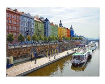 Vitava River in Prague, Czech Republic Captured in Original