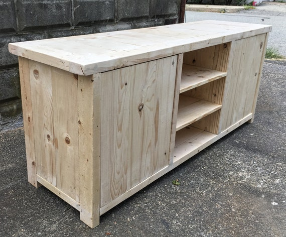Unfinished Rustic Entertainment Center Tv Stand Console Table