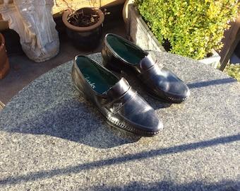 Men's, Vintage, Clarks, Black Leather Shoes, (UK Size 7.5)