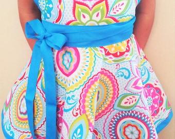 Child's apron, custom apron, personalized apron, christmas gift, girls pretend play apron, kitchen apron