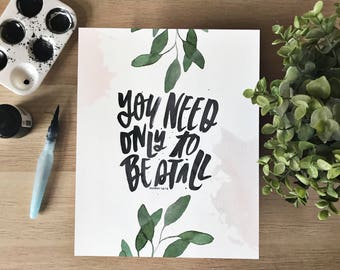 You Need Only To Be Still - Exodus 14:14 - Hand Lettered Scripture Print