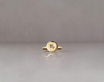 Tiny Zodiac Charm Ring