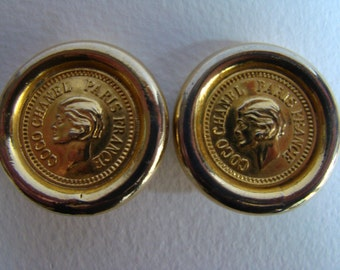 Coco Chanel Paris France  vintage earrings