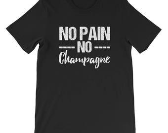 No Pain No champagne shirt-champagne-no pain-no champagne-no pain no gain-champagne tank-champagne shirt-champagne burnout-Bartender Shirt -