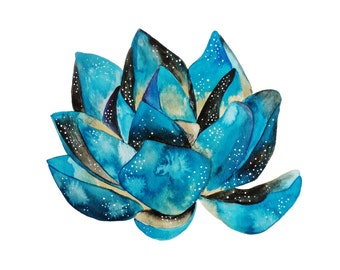 PRINT - Blue Lotus