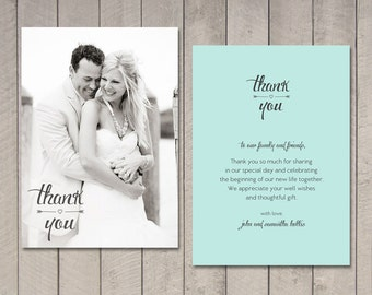 Wedding Thank You Cards | Etsy IN