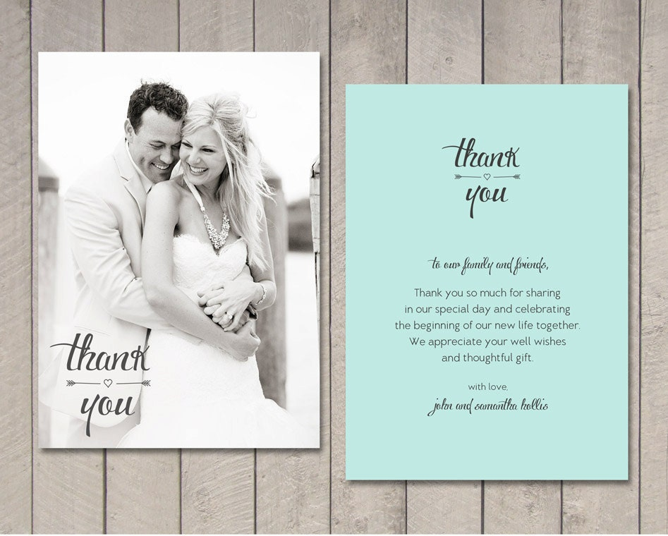 Wedding thank you card printable by vintage sweet zoom junglespirit Image collections