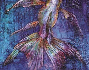 Art Card: Indigo Goldfish