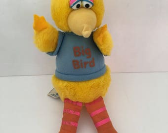 Hasbro Softies Big Bird Vintage Plush Stuffed Animal Sesame Street