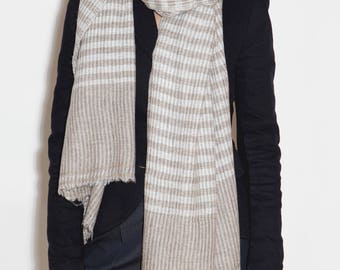 Сashmere scarf for men and women, checkered scarf, wool scarf, women's cashmere scarf, beautiful scarf, men's scarf, beige scarf, scarves