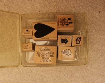 Dear to My Heart Stampin' Up 1997 (Incomplete Set of 8)