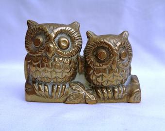 Vintage brass owl ornament