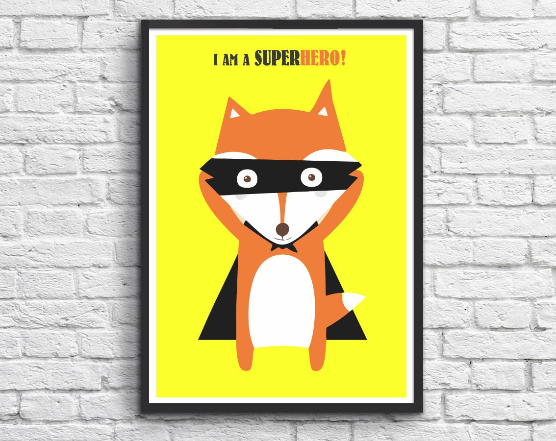 Awesome Superhero Wall Art For Kids Sketch - Wall Art Collections ...
