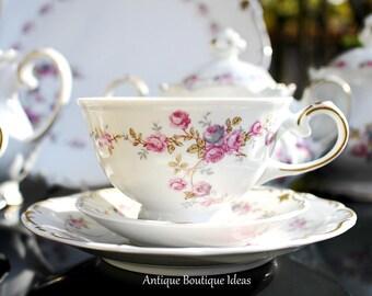 Vintage Tet-a-Tet Tea Set Coffee Service German Teapot Set Bavarian China Shabby Chic Tea Service Floral Tea Service Wedding Gift