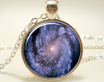 Galaxy Necklace, Heavenly Nebula Pendant, Stars And Universe Jewelry (1346S1IN)