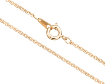 flat cable chain necklace with spring ring clasp 18inch 14k gold finished brass 2mm chain width 2pcs
