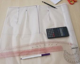 Skirt Sloper PAPER - Βασικό πατρόν φούστας σε χαρτί
