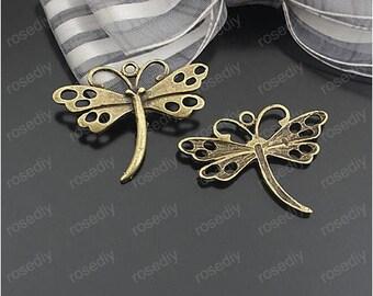 10 bronze 28 * 36 MM D24349 Butterfly charm