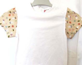 T-shirt manches courtes asanoha et lapins 4 ans