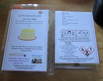 Citrus Pound Cake Scented Soy Wax Melts Pack