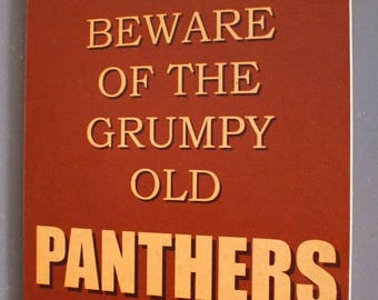 Penrith Panthers Retro Brown Grumpy Old Rugby League Footy Football Sign Bar Pub Man Cave