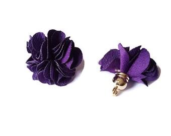 Dark purple fabric tassel