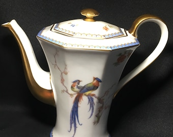 C1930 Theo Haviland Limoges Paradise Coffee Pot France