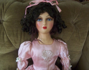 Sultry boudoir doll- 1930s era- antique doll- vintage doll