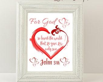 John 3:16 Bible Verse Printable