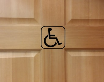 Handicap Restroom Decal, Handicap Bathroom Decal, Bathroom Sign, Restroom Sign, Restroom Symbol, Handicap Room Sign