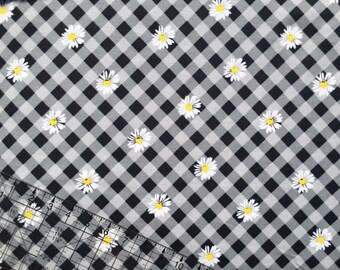 Girl Fabric, Flannel Fabric, Mimosa Daisies Flannel, Fabric BTY, Cotton Fabric, Quilting Fabric, Girl Flannel, Baby Nursery Fabric