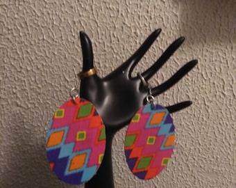 retro design earrings med/large