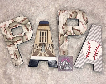 New York Yankee inspired *paper mache letters*