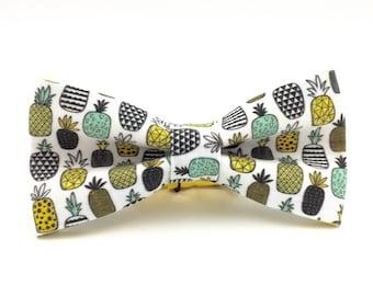 Adult Pineapple Bowtie, Handmade Bow Tie, Novelty Bow Tie, Mens Bowties By AmandaJoHandmade on Etsy