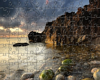 Shore Zen Puzzle - Hand crafted, eco-friendly, American made artisanal wooden jigsaw puzzle