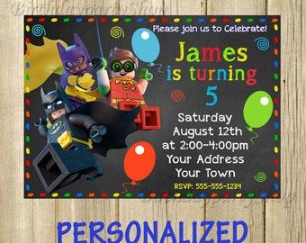 The Lego Movie , Invitation -Invite The Lego Movie Birthday, Invite -The Lego Movie Personalized, Digital File