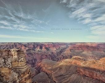 Grand Canyon Photo, Grand Canyon Print, Grand Canyon Arizona, Arizona Photography, Bible Scripture Art, Gift For Christian,  Christian Art