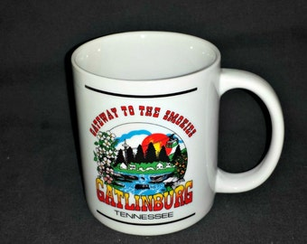 Gatlinburg Mug / Gatlinburg TN Souvenir Mug / History of Gatlinburg Mug / Gateway to the Smokies Souvenir Mug