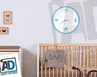 Wall sticker R-005 baby clock