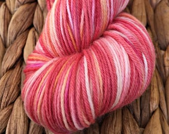 100g Australian Sock Yarn - Tropical Pink OOAK